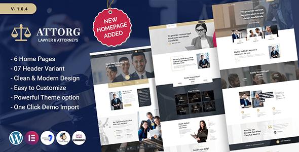 Attorg - Attorney WordPress Theme - Business Corporate