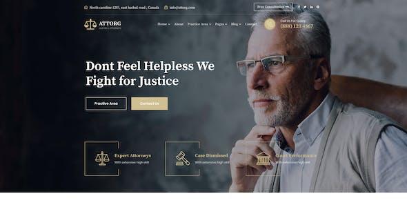 Attorg - Attorney WordPress Theme