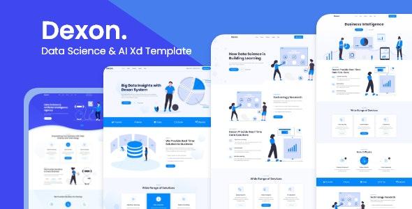 Dexon - Data Science & Analytics Landing Page - Technology Adobe XD