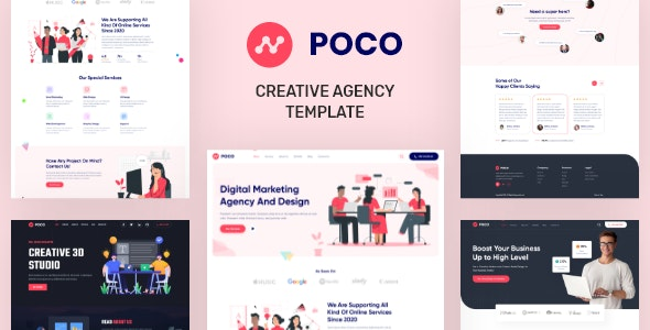 Poco - Creative Agency XD Template - Creative Photoshop