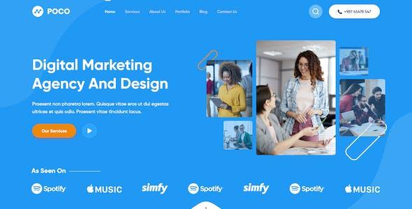 Poco - Creative Agency XD Template