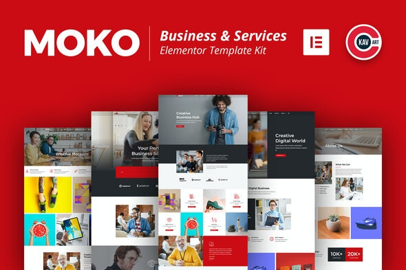 Moko - Business & Services Elementor Template Kit - Business & Services Elementor