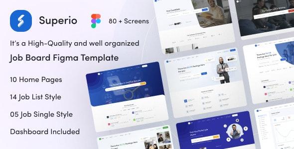 Superio - Job Board Figma Template - Corporate Figma