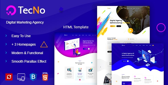 Tecno - Creative Digital Agency - Business Corporate