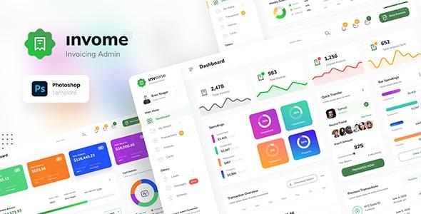 Invome - Invoicing Admin Dashboard Template PSD