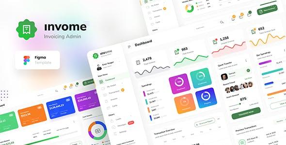 Invome - Invoicing Admin Dashboard Template Figma