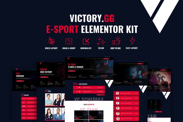 Victory - Esports & Gaming Elementor Template Kit - Sport & Fitness Elementor