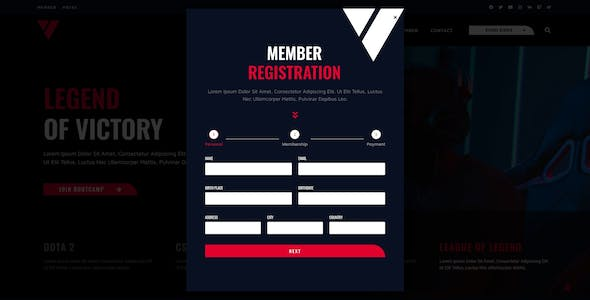 Victory - Esports & Gaming Elementor Template Kit
