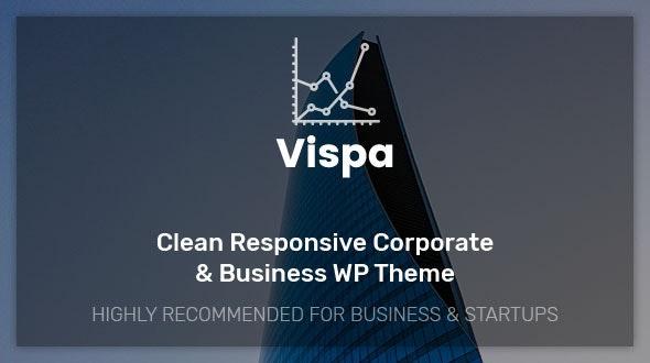 Vispa for Startups - Responsive Business WordPress Theme - Business Corporate