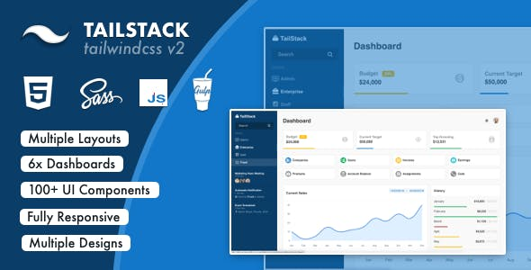 TailStack - Tailwind CSS Admin Dashboards