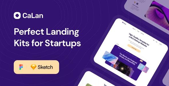 CaLan Landing Kits - Sketch UI Templates