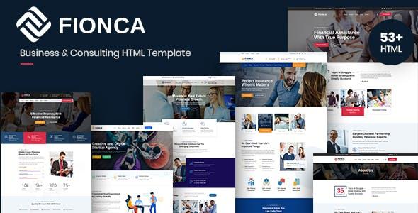 Fionca - Business & Finance HTML Template