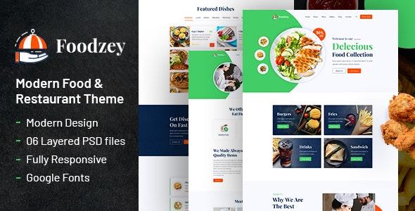 Foodzey - Restaurant PSD Template - Food Retail