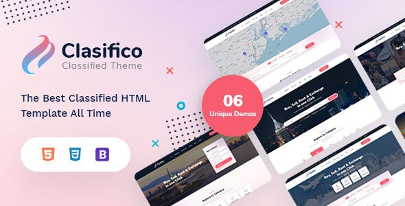 Clasifico - Classified Ads HTML Template - Business Corporate