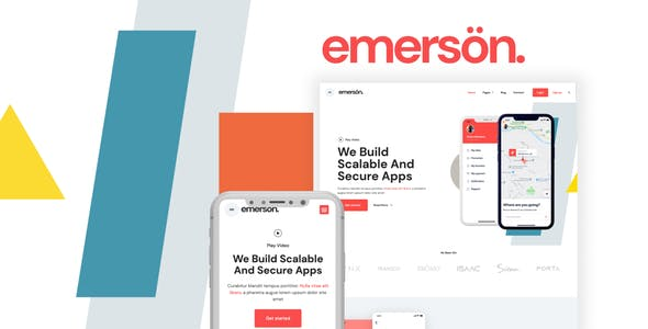 Emerson — App & Software Showcase Elementor Template Kit