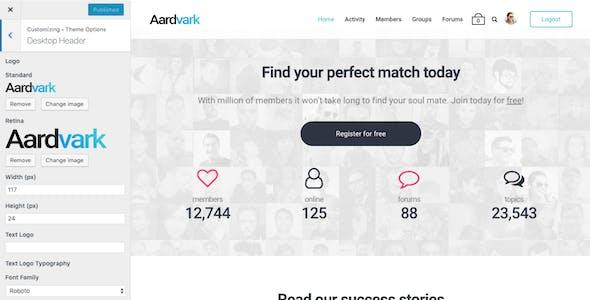 Aardvark - Community, Membership, BuddyPress Theme