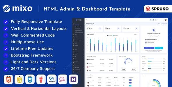 Mixo -   HTML Dashboard Template - Admin Templates Site Templates