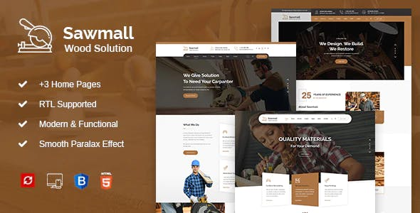 Sawmall - Carpenter and Craftman HTML Template