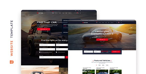 Rotors – Car Rental Website Template