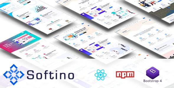 Softino - Software React Template - Technology Site Templates