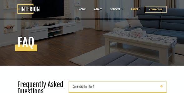 Interion - Interior Design Elementor Template Kit