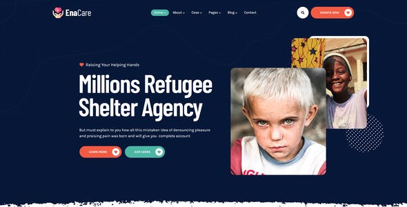 EnaCare - NonProfit & Charity Foundation PSD Template