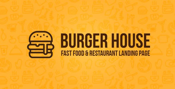 Burger House - Fast Food & Restaurant Landing page