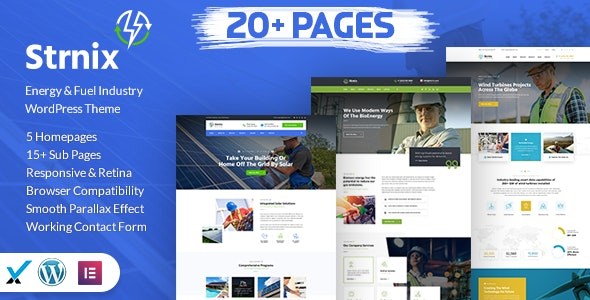 Strnix - Solar and Green Energy WordPress Theme - Technology WordPress