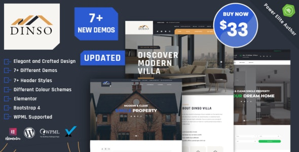 Dinso - Single Property & Apartment WordPress Theme - Real Estate WordPress