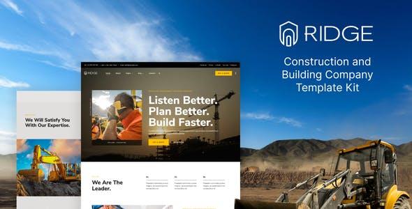 Ridge – Construction & Building Company Elementor Template Kit