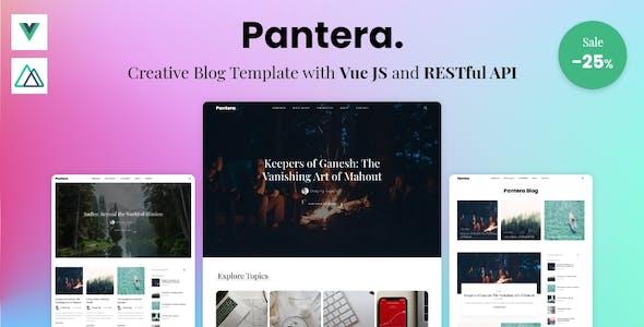 Pantera - Creative Blog Template with Vue JS & RESTful API