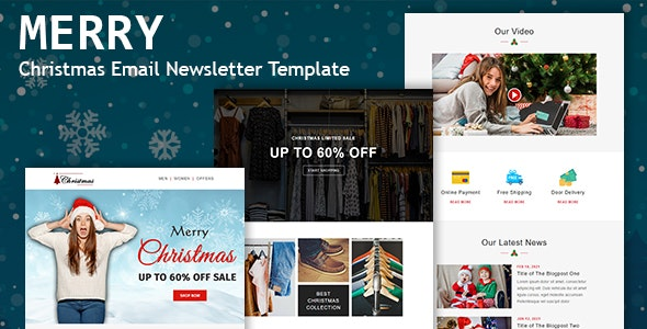 Merry - Christmas Email Newsletter Template - Newsletters Email Templates