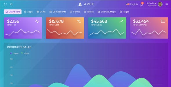 Apex - Angular 11+ & Bootstrap 4 HTML Admin Template