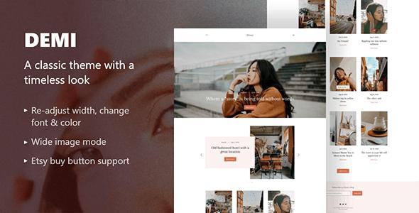 Demi: Grid-Based Blog Template - Blogger Blogging