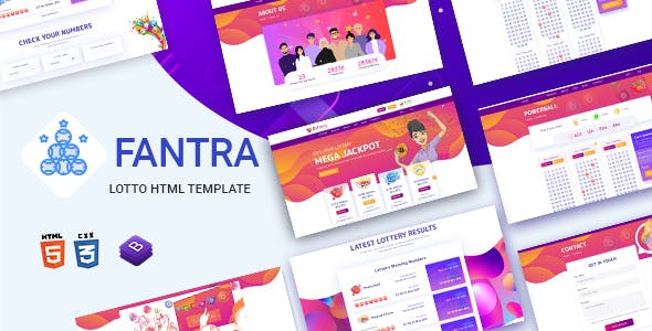 Fantra - Online Lotto & Lottery HTML Template