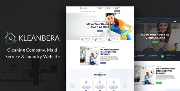 Kleanbera –  Cleaning and Maid Services Responsive Website