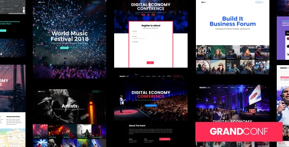 Grand Conference | Event WordPress - Events Entertainment