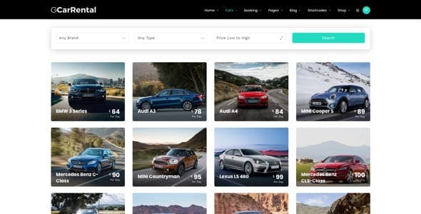 Grand Car Rental | Limousine WordPress