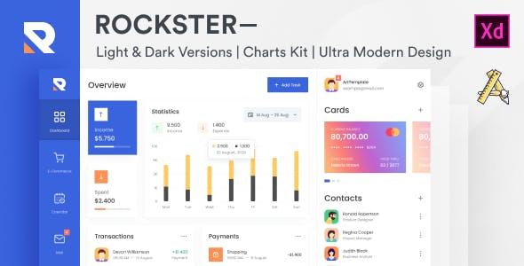 Rockster – Admin Dashboard