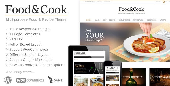 Food & Cook - Multipurpose Recipe WP Theme - Retail WordPress