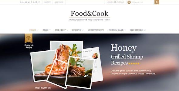 Food & Cook - Multipurpose Recipe WP Theme