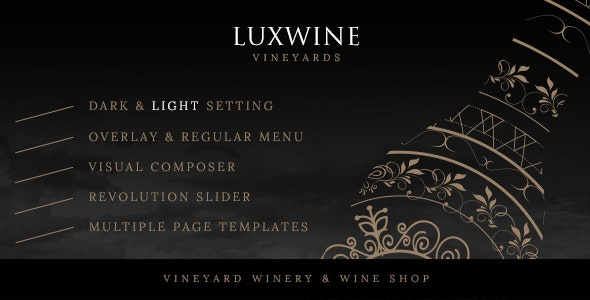Luxwine - Wine WordPress Theme - Food Retail