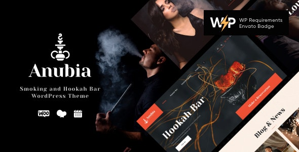 Anubia | Smoking and Hookah Bar WordPress Theme - Restaurants & Cafes Entertainment