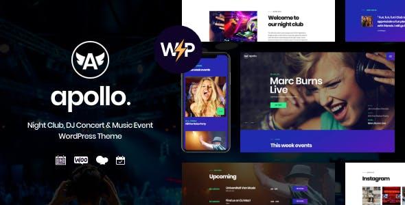 Apollo | Night Club, DJ Concert & Music Event WordPress Theme