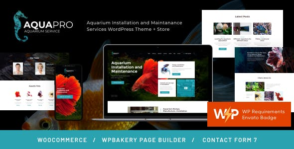 AquaPro | Aquarium Installation and Maintanance Services WordPress Theme + Store