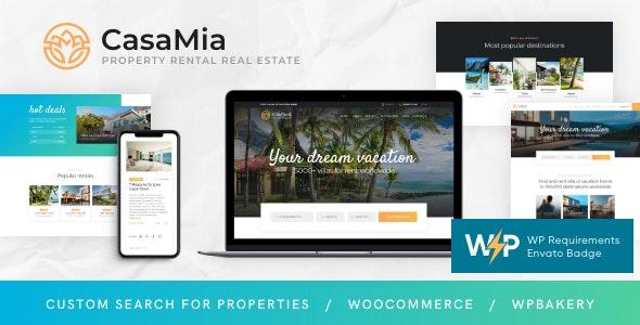 CasaMia | Property Rental Real Estate WordPress Theme - Real Estate WordPress