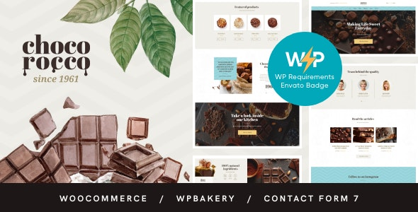 ChocoRocco | Chocolate Sweets & Candy Store WordPress Theme - Food Retail
