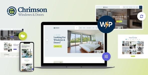 Chrimson | Windows & Doors Services Store WordPress Theme + Elementor - Retail WordPress