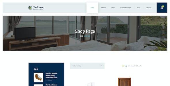 Chrimson | Windows & Doors Services Store WordPress Theme + Elementor
