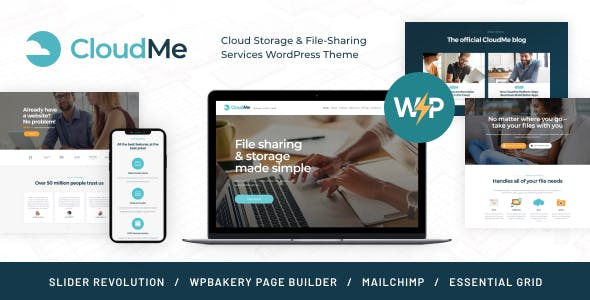 CloudMe | Cloud Storage & File-Sharing Services WordPress Theme